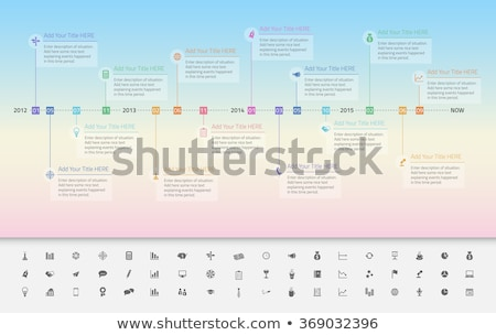 Modern timeline with transparent milestones in pastel colours and background with gradient from baby Stock photo © liliwhite
