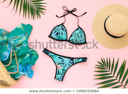 Fashion set of woman's clothes and accessories - Beachwear fashion set Stock photo © gigi_linquiet