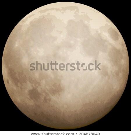 Full Moon, taken on 13 July 2014. EPS 10 Stock photo © beholdereye