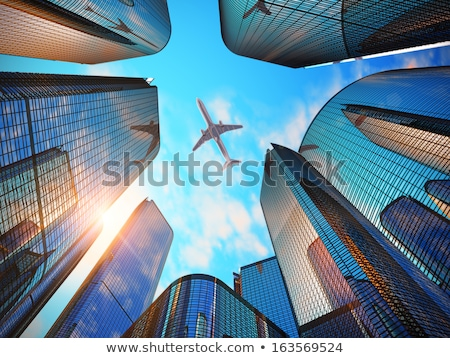 skyscrapers & airline Stock photo © tracer