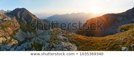 Napfelkelte hegyek Kaukázus reggel első sugarak Stock fotó © suliel