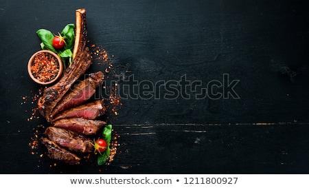 Сток-фото: Grilled Beef Steak And Wine