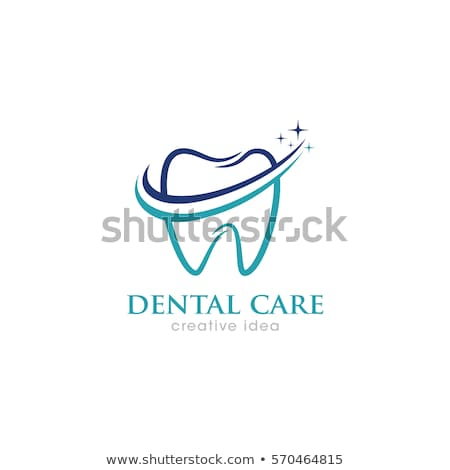dental clinic logo with tooth and leaves Stock photo © djdarkflower