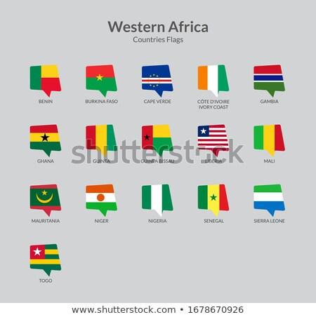 Chat icon with flag of nigeria Stock photo © MikhailMishchenko