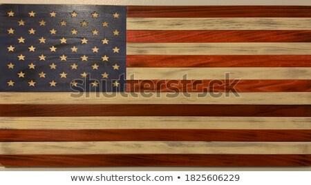 amerikan · bayrağı · atış · stüdyo · arka · plan · Yıldız · bayrak - stok fotoğraf © klikk