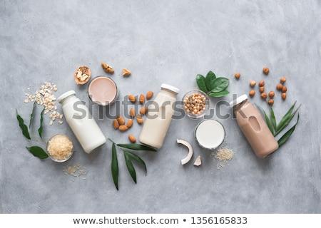 ココナッツミルク ドリンク ガラス 氷 カクテル 桜 ストックフォト © Digifoodstock