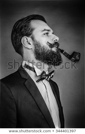 pipe smoker guy Stock photo © vector1st