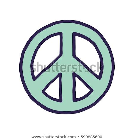 Pokoju podpisania symbol projektu niebieski Daisy Zdjęcia stock © szabiphotography