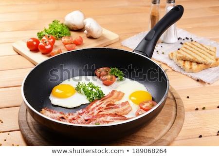 жареный · Ломтики · продовольствие · ветчиной - Сток-фото © digifoodstock