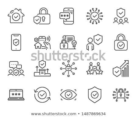 安全 アクセス アイコン デザイン 携帯 ストックフォト © WaD