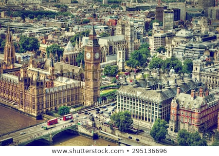 London, the UK skyline. Big Ben, London Eye and River Thames. English symbols Stock photo © photocreo