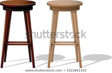 Zsámoly illusztráció lábak bútor belső egyedül Stock fotó © bluering