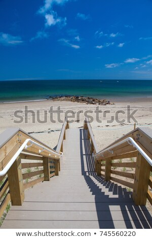 famous town neck beach boardwalk in sandwich massachusetts usa stock photo © capturelight