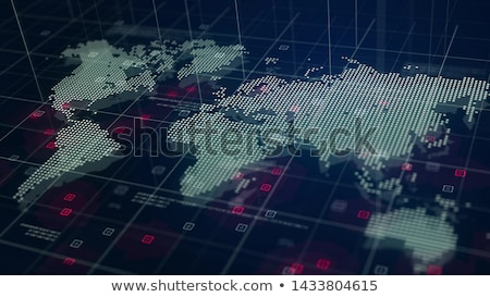 futurista · mapa · del · mundo · interfaz · referencia · mapa · software - foto stock © goir