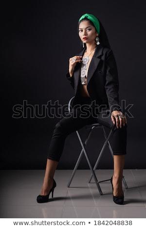 beauté · mode · brunette · noir · mode · bijoux - photo stock © Victoria_Andreas
