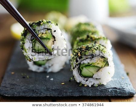 tekert · szusi · fotó · hal · háttér · vacsora - stock fotó © zhekos