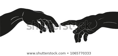 指 · 二人 · 触れる · 手 · チーム · 人間 - ストックフォト © zurijeta