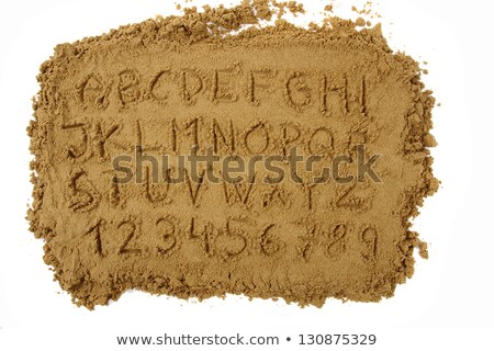Teljes tengerpart ábécé levelek számok betűtípus Stock fotó © adrian_n