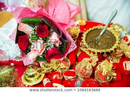 Maison décorations fleurs fleur herbe Photo stock © tannjuska