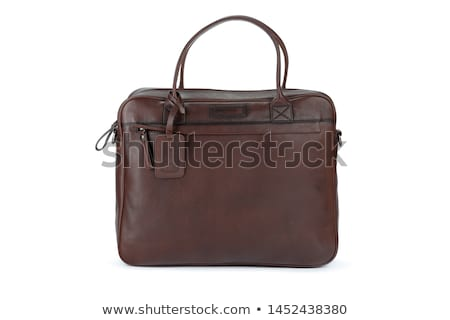 Business travel leather bags isolated on white Stock photo © kayros