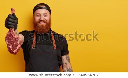 человека ножом кавказский Сток-фото © iofoto