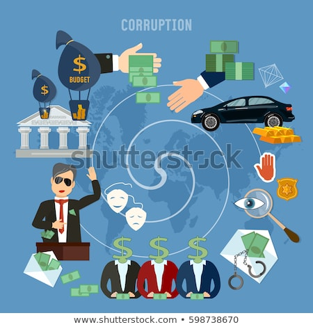 Bribery and corruption concept with cash money in envelope Stock photo © stevanovicigor