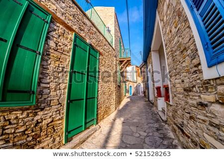 Cobbled alleyway at Kato Drys village. Larnaca District, Cyprus Stock photo © Kirill_M