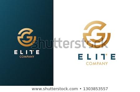 élite logo 10 naranja carta moderna Foto stock © sdCrea