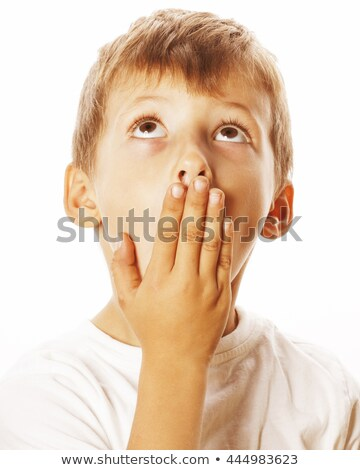 young pretty boy wondering face isolated gesture close up Stock photo © iordani