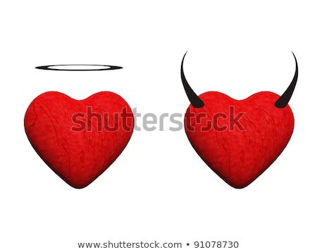 ördög szív 3D 3d render illusztráció izolált Stock fotó © djmilic