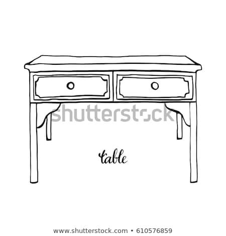 chest of drawers sketch icon stock photo © rastudio