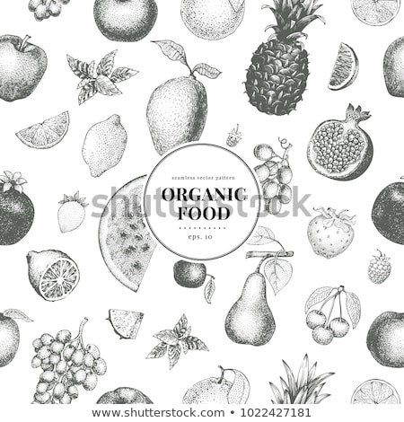 granaatappel · vruchten · witte · eps · voedsel · groene - stockfoto © conceptcafe