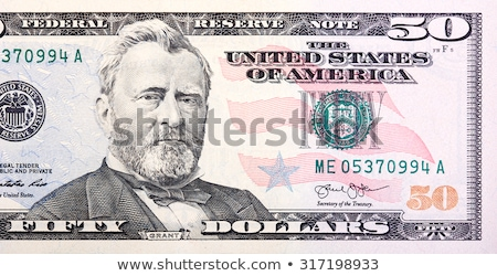 US Fifty 50 Dollar Bill close up of Grant Stock photo © BrandonSeidel