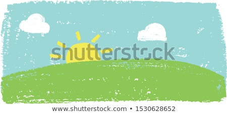 kid painting a landscape stock photo © neelvi