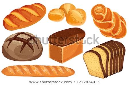 ディナー · ロール · パン · 食品 · 木材 · 背景 - ストックフォト © digifoodstock