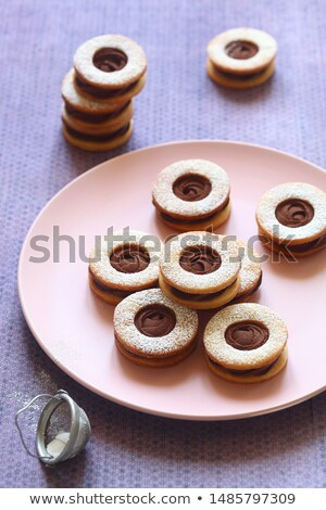 two linzer cookies stock photo © digifoodstock