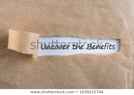 Uncover The Benefits Stock photo © ivelin
