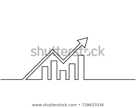 Avantages graphique icône blanc noir Finance marché Photo stock © Imaagio