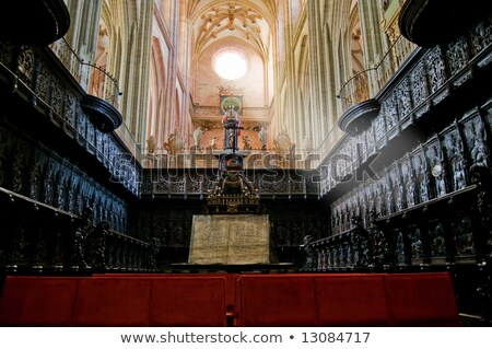 The Choir in Santa Maria Cathedal of Astorga. Spain Stock photo © Photooiasson