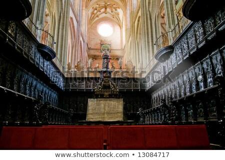 catedral · Espanha · cidade · vidro · janela · arte - foto stock © photooiasson