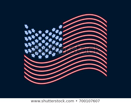 neon sign usa flag stock photo © voysla
