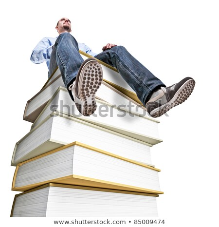 veel · boeken · illustratie · boek · achtergrond - stockfoto © rastudio