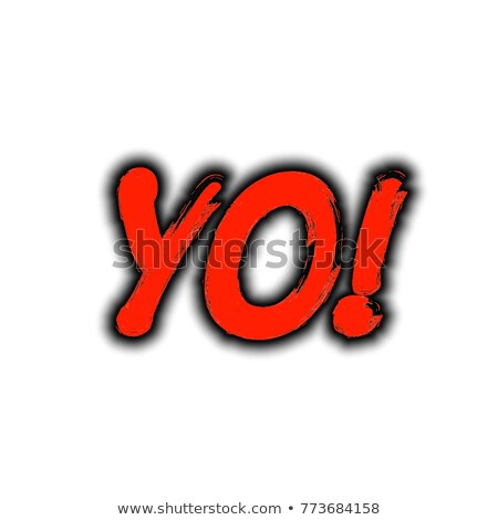 graffiti Bubble Font exclamation mark in black on white Stock photo © Melvin07