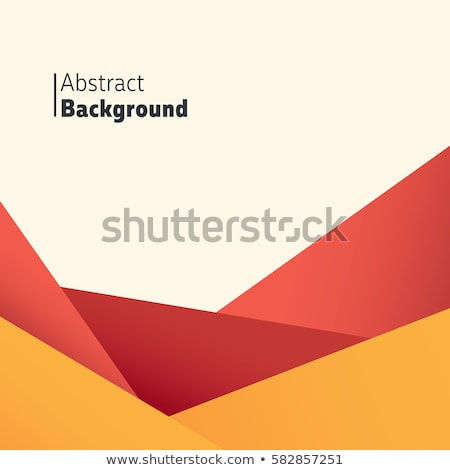 Orange Abstract Polygonal Landscape Stock photo © molaruso