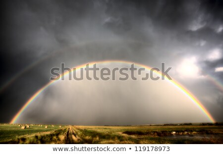 Storm Clouds Saskatchewan Rainbow Stock photo © pictureguy