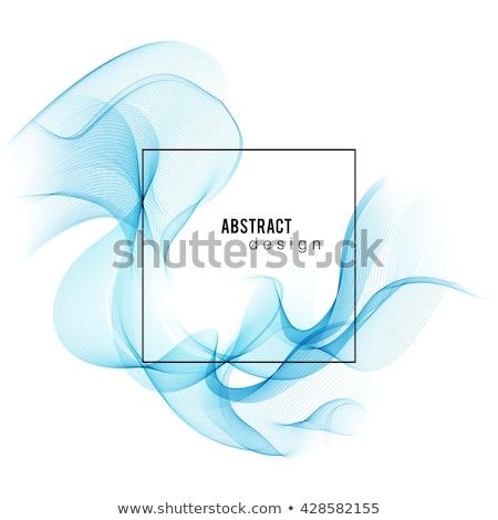 kék · absztrakt · szín · hullám · vektor · füst - stock fotó © fresh_5265954