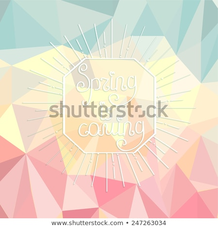 Vector colored triangular background with spring text design Stock photo © fresh_5265954