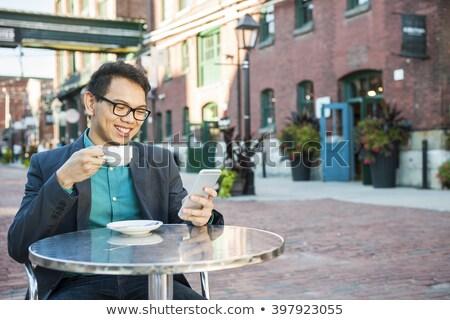 юго-восток азиатских бизнесмен сидят привлекательный Сток-фото © szefei