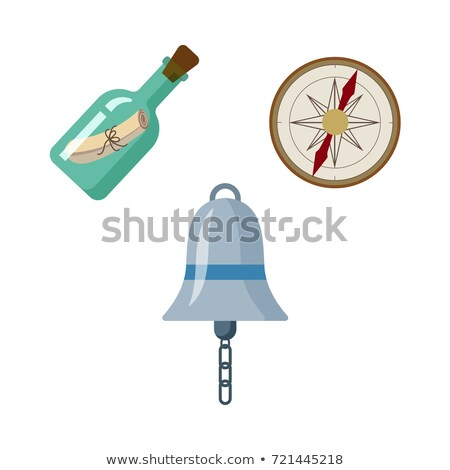 Vektor Stil Illustration Schiff Glas Flasche Stock foto © curiosity