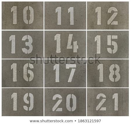 Number thirteen -13 on the concrete floor Stock photo © stevanovicigor
